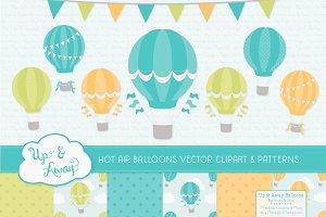 Boys Hot Air Balloons Vectors