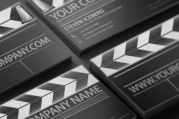 Film director business card business card templates creative market reheart Images
