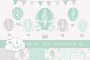 Mint Green Hot Air Balloons