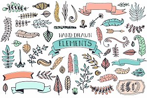 56 Doodle Decoration Elements