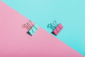 two paper clips