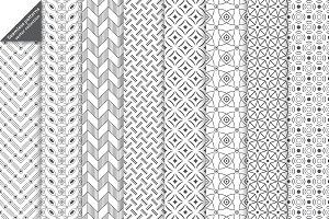 Set of 8 geometric seamless patterns