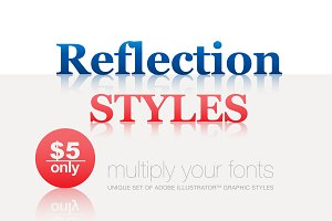 Adobe Illustrator styles Reflective