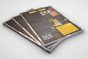 Food Menu Flyer Template-V366