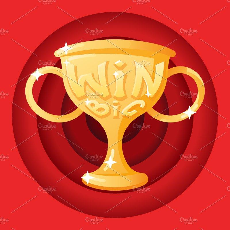 Win Cup Illustrations Creative Market