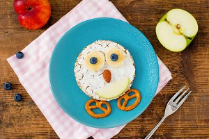 Food art for kids breakfast