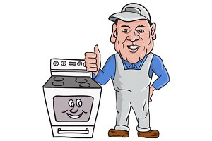 Oven Cleaner With Oven Thumbs Up
