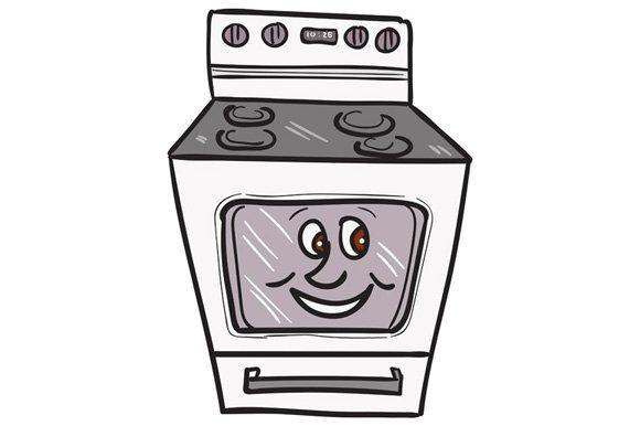 oven smiley face cartoon illustrations creative market