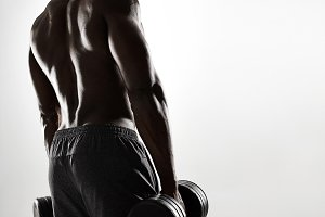 Muscular young african man