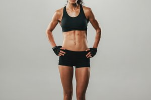 Fit healthy young woman