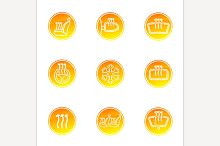 Car Heating Icons