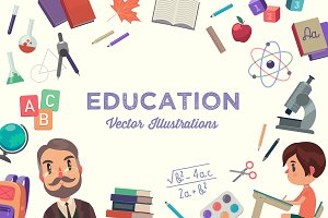 EDUCATION illustrations bundle