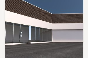 Business Building 3D rendering