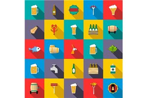 Beer icons set