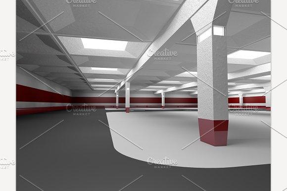 Underground Parking. 3D Rendering - Illustrations