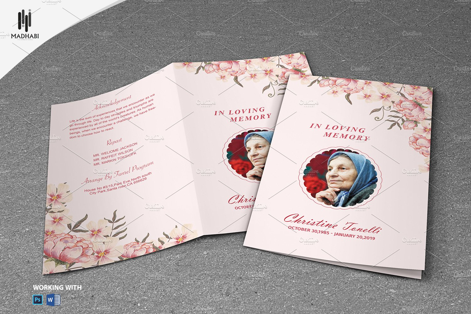 Printable Funeral Program Template Brochure Templates Creative – Printable Funeral Program Templates