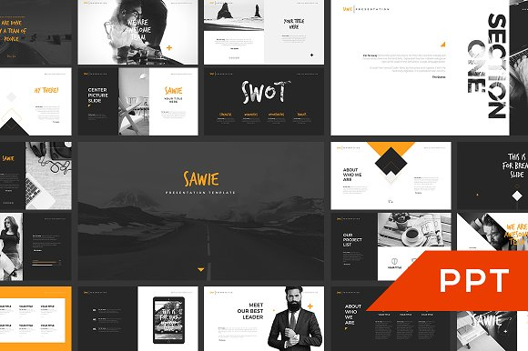 sawie powerpoint template presentation templates creative market