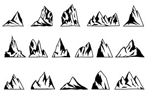 ADVENTURE LOGOS. Mountain vector