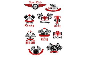 Motorsport and racing symbols