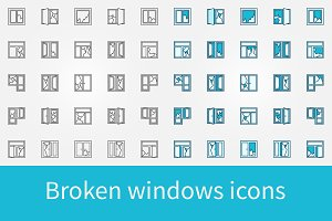 Broken windows icons