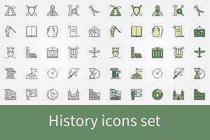 History icons set