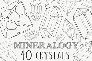 Mineralogy - 40 Vector Crystals