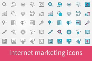 Internet marketing icons