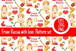 5 pattern set Russian culture