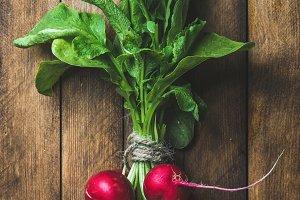 Fresh radish bunch