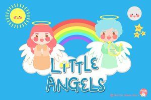 Digital Clipart Little Angels