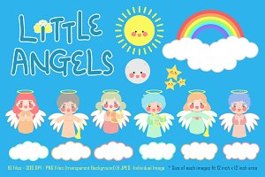 Little Angels Digital Clipart