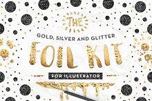 gold foil font