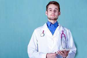 portrait of a young male doctor