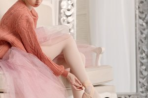 Ballerina dress ballet shoes