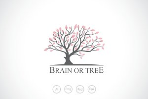 Brain or Tree Logo Template