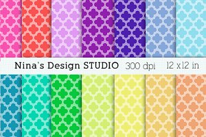 Quatrefoil Digital papers
