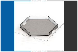 Hexagonal Serving Tray - #01 Generic