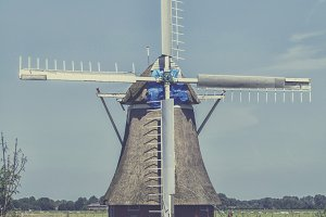 Historical Dutch windmill from 1817