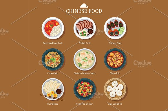 set of Chinese food in Objects
