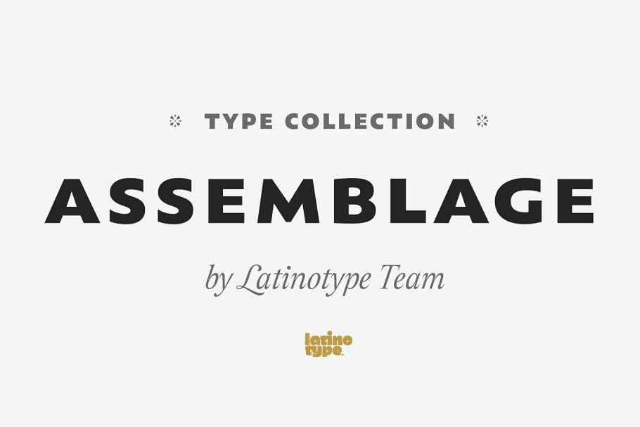 Assemblage ~ Sans Serif Fonts ~ Creative Market