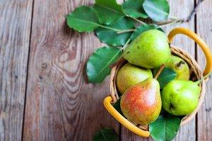 juicy ripe pears