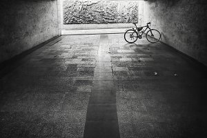 Bike in a underground passage