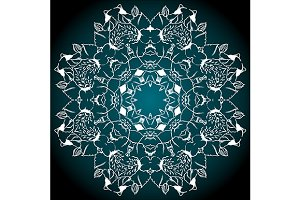 Mandala abstract background vector