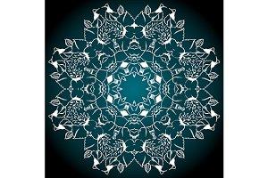 Mandala abstract background vector