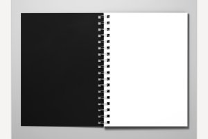 Black Cover Diary. 3D Rendering