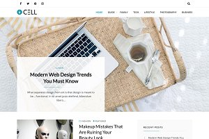 Cell - Clean Blog WordPress Theme