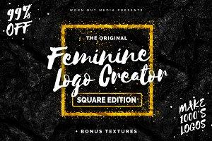 Feminine Logo Creator Square Edition
