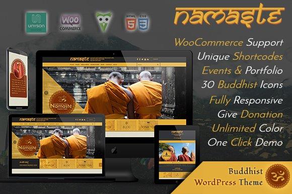 Namaste - Buddhist WordPress Theme
