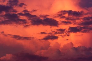 Fantastic red storm cloud