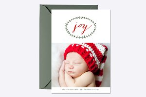 Pure Joy Holiday Card Template